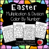 Easter Multiplication and Division Color by Number