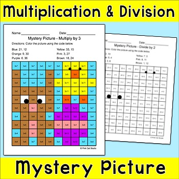 Easter Math Multiplication and Division Easter Bunny Mystery Picture