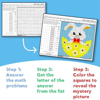 Easter Multiplication and Division Mystery Pictures