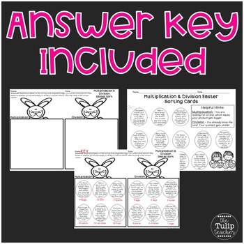Easter Multiplication and Division Word Problem Sort