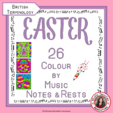 Easter Music: 26 Easter Music Colouring Pages