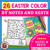 Easter Music Lessons Notes and Rests Coloring Pages