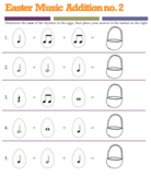 Easter Music Addition Worksheets (Set of 5)!