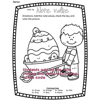 Easter Music Coloring Sheets