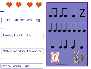 """Classroom Poem - """"The Rabbits"""" by Lisa Gillam - Complete Music Lesson Package"""