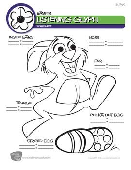 Easter Music Listening Glyph (Digital Print)