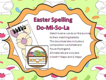 Easter Music Spelling Activities - Do-Mi-So-La