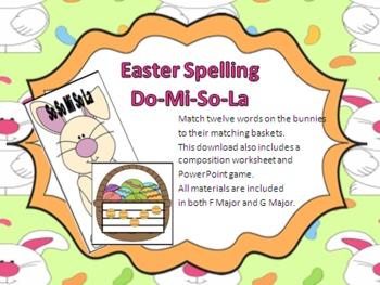 Easter Music Spelling Activities - Do-Mi-So-La