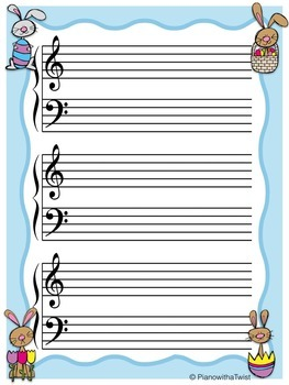 easter music staff paper grand staff