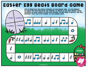 Easter Music Activities/Worksheets: Printable Games, Glyph, & Coloring