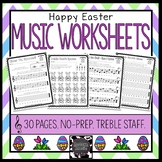 Easter Music Worksheets - Treble Staff