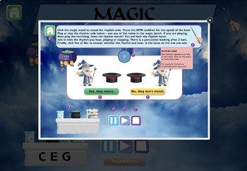 Musical Magical Rhythm Codes Interactive Module
