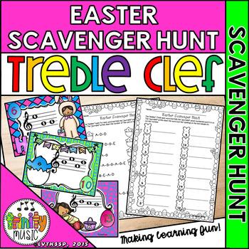 Easter Musical Scavenger Hunt (Treble Clef)