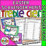 Easter Musical Scavenger Hunt (Treble Clef)