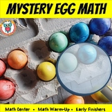 Easter Mystery Egg Math Center Activity  (Number Clues + Critical Thinking) FREE
