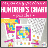 #easterdollardeals Easter Mystery Picture Hundred's Chart Puzzles