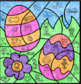 Easter Mystery Picture ~ Long/Short Vowels I, O, and U ~ Two Easter Eggs