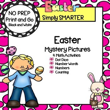 Easter Mystery Pictures:  NO PREP Math Activities