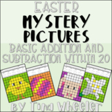 Easter Mystery Pictures Addition and Subtraction Within 20