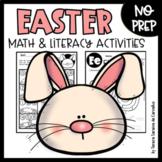 EASTER - MATH & LITERACY - NO PREP