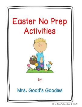 Easter NO PREP Activities