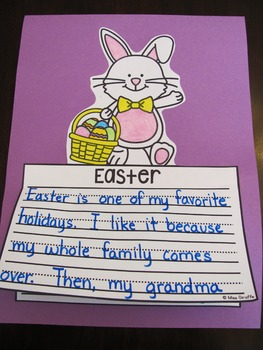 Easter Writing Craft Activities No Prep