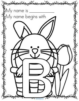 Easter Name Posters - Decorate Initial Letters