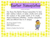 Easter Nameplates