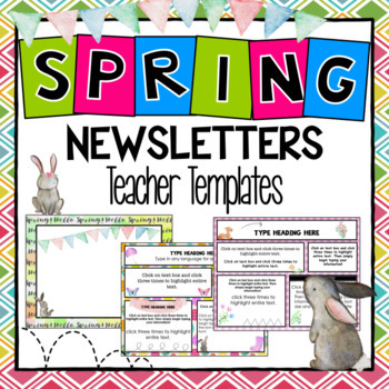 Spring Newsletter Templates ~ Editable
