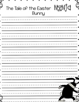 Easter Ninja Bunny Writing Freebie
