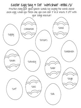 Easter NO PREP Speech Therapy Articulation Packet! Just Print & Use!