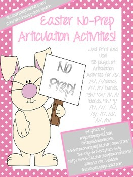 Easter NO PREP Speech Therapy Articulation Packet!