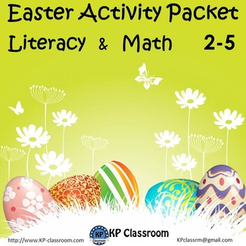 Easter No Prep Literacy and Math Activity Packet for Grades 2 3 4 or 5