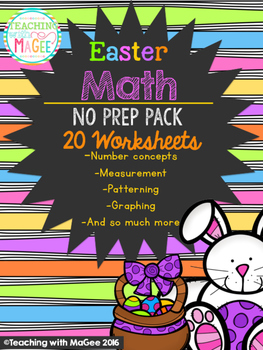 Easter No Prep Math Pack