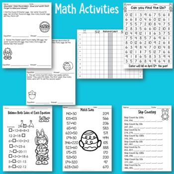Easter No Prep Activities for Literacy and Math