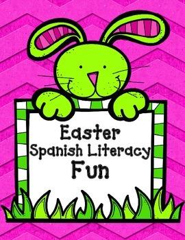 Easter No Prep Spanish Literacy Fun: PreK and Kinder