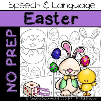 Easter: No Prep Speech and Language