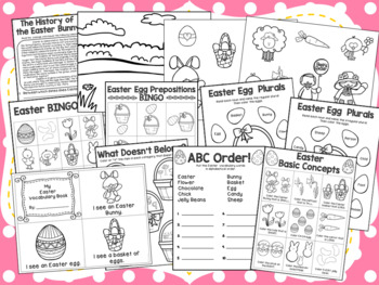 Easter {No Prep} Speech and Language Unit