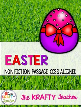 Easter NonFiction Reading Passage Secular or Religious