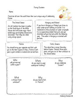 Easter Non-fiction Passages and Printables