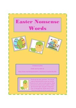 Easter Nonsense Words, Aimsweb, DIBELS