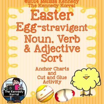 Nouns, Verbs, Adjectives {Easter, Anchor Charts, Mats & MORE!}