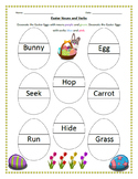 Easter Nouns and Verbs Worksheet