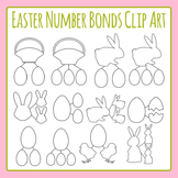 Easter Number Bond Template Clip Art Set for Commercial Use