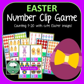 Easter Number Clip Activity - Clip Peg on Matching Number 1-20 Counting Game