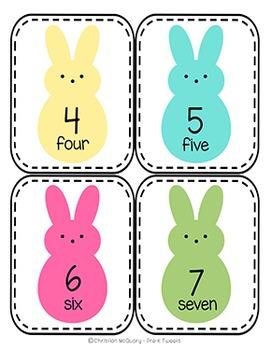 Easter Number Clip Cards