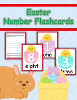 Easter Number Flashcard