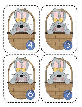 Easter Number Flashcards