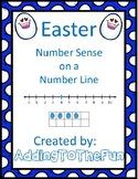 Easter Number Line Number Sense Worksheets