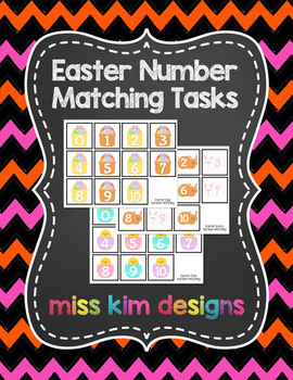 Easter Number Match Folder Games for Early Childhood Special Education